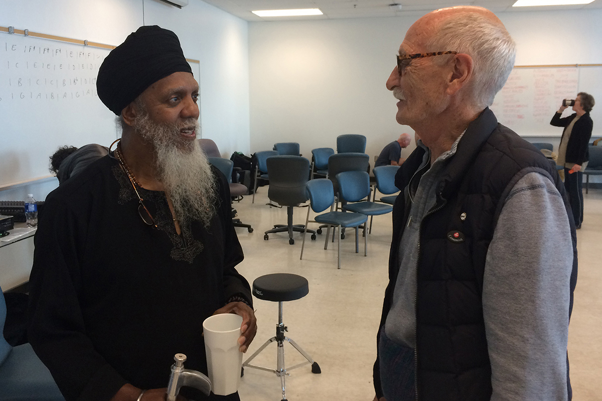 Jerry Granelli and Lonnie-Smith during Creative Music Workshop in Halifax NS
